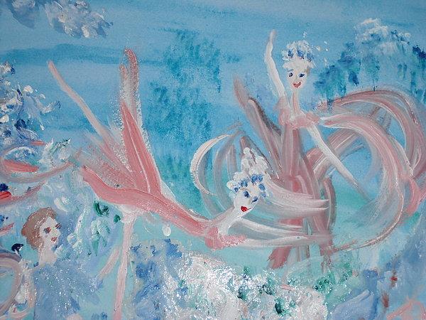 In My Dreams Im Dancing Print by Judith Desrosiers