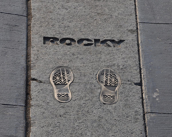 In The Footsteps Of Rocky Print by Bill Cannon