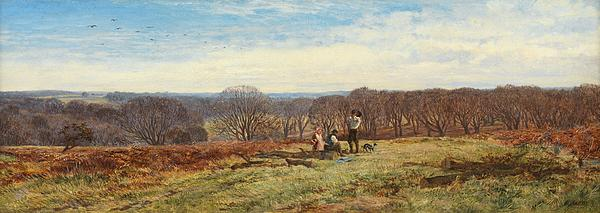 In The New Forest Print by Heywood Hardy