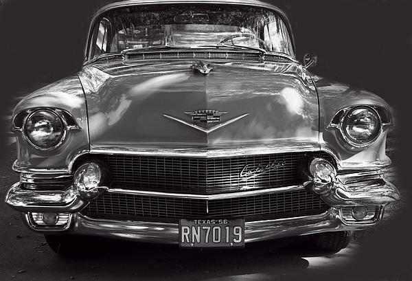 Linda Phelps - In Your Face - 1956 Cadillac BW