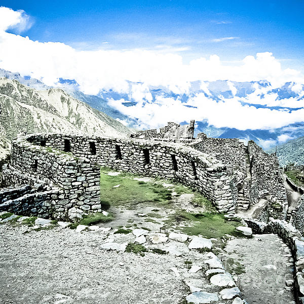 Inca Observatory Ruins Print by Darcy Michaelchuk