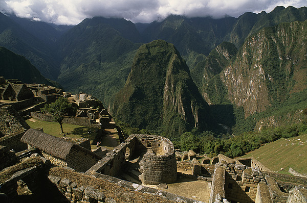 Inca Ruins At Machu Picchu Are Biggest Print by Gordon Wiltsie