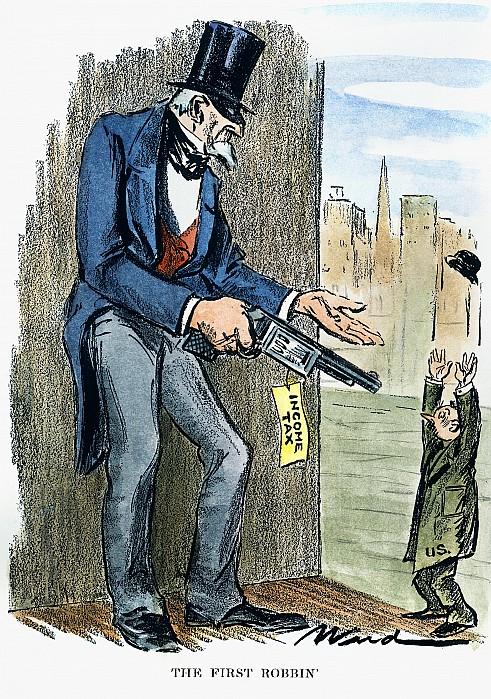 Income Tax Cartoon, 1928 Photograph  - Income Tax Cartoon, 1928 Fine Art Print