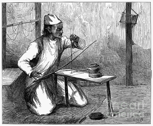 India: Pearl Borer, 1876 Print by Granger
