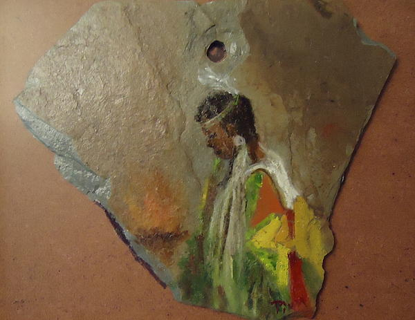 Indian Girl  Print by Betty Pimm