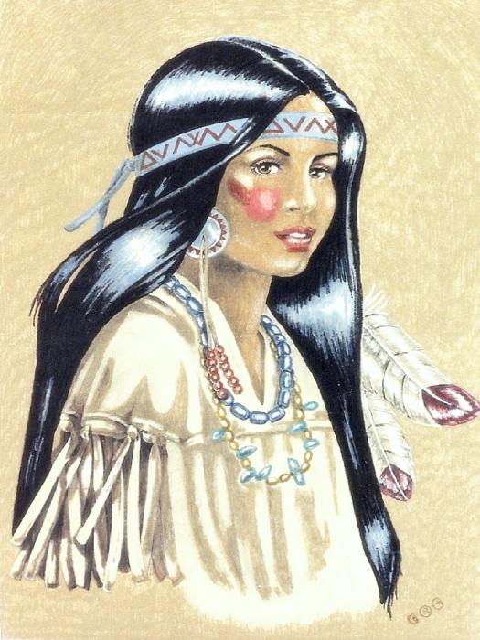 George I Perez - Indian Girl