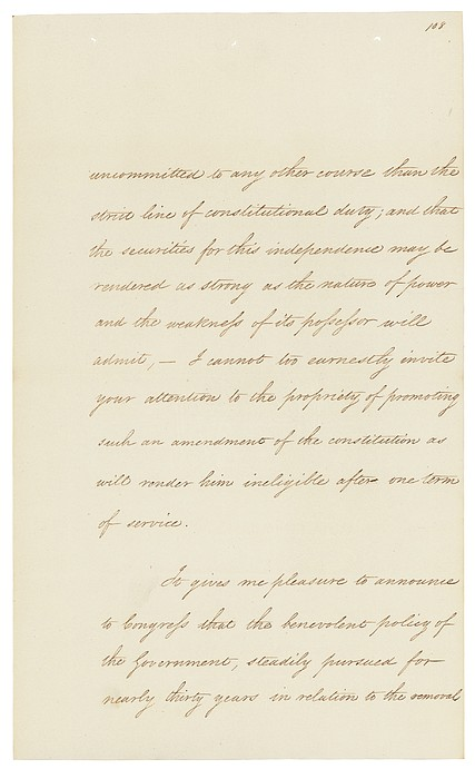 Indian Removal Act. Signed Into Law Print by Everett