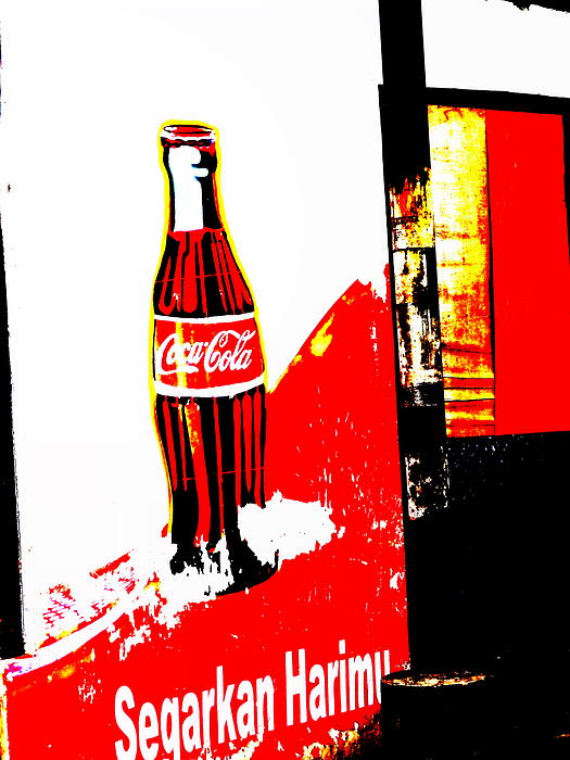 Indonesian Coke Ad Print by Funkpix Photo Hunter