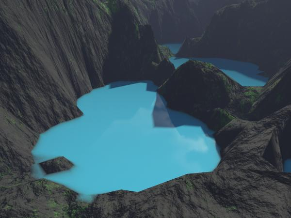 Indonesian Crater Lakes Print by Gaspar Avila