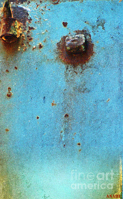 Industrial Blue Abstract Print by AdSpice Studios