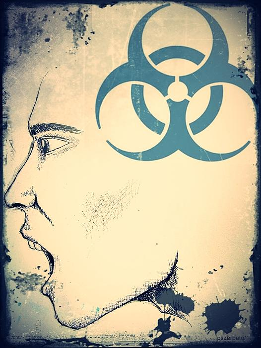 Infectious Substance Print by Paulo Zerbato