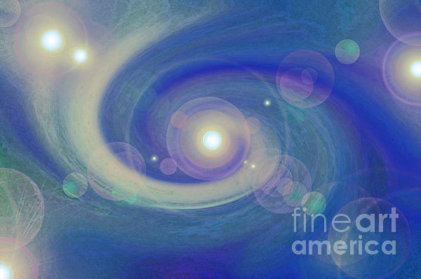 Infinity Blue Print by First Star Art