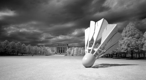 Infrared View Of The Nelson Atkins Museum Exterior In Kansas City Print by Carol M Highsmith