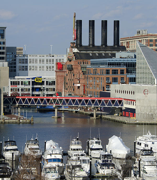 Inner Harbor - Baltimore - Maryland Print by Brendan Reals