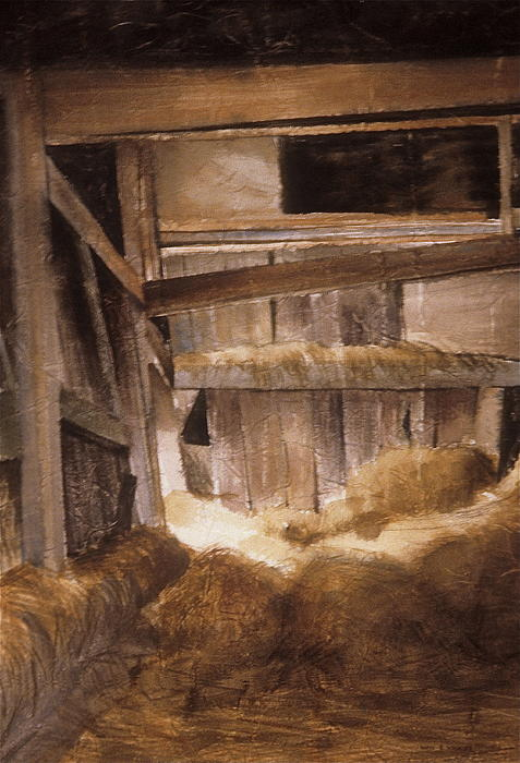 Inside Keeler's Barn Print by Karol Wyckoff