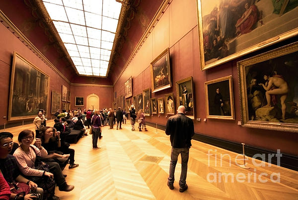 Inside Louvre Museum  Print by Charuhas Images