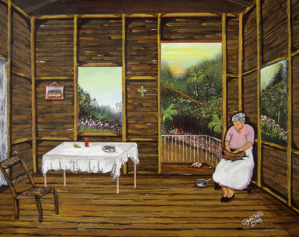 Gloria E Barreto-Rodriguez - Inside Wooden Home