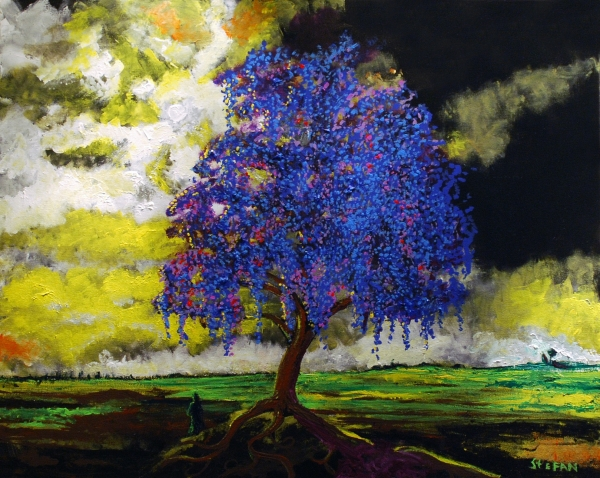 The gallery for --> What Dreams May Come Purple Tree Painting
