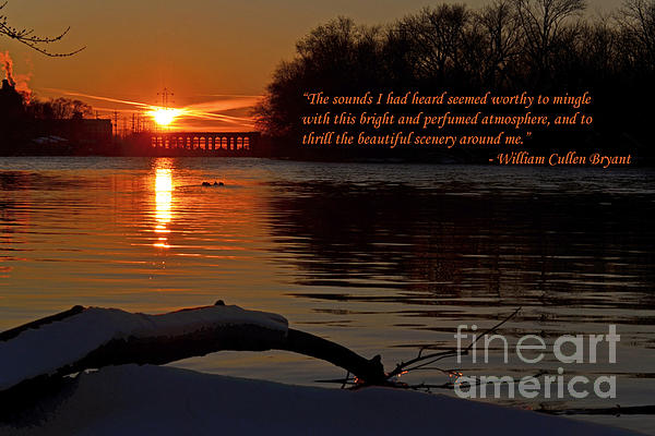 Inspirational Sunset With Quote Print by Sue Stefanowicz