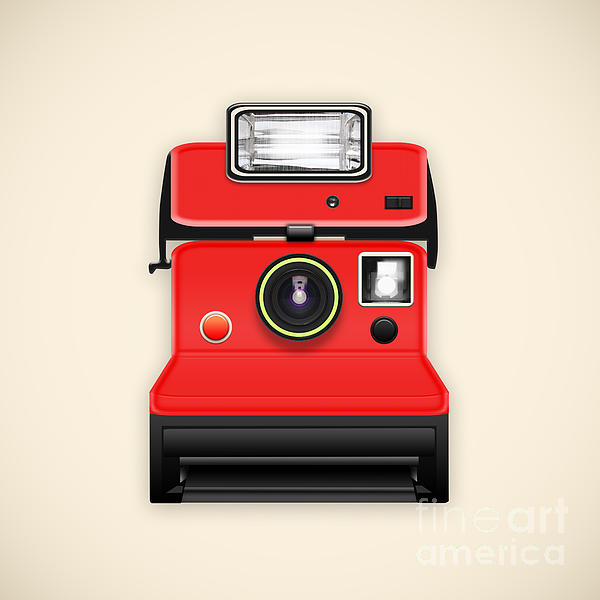 Instant Camera With A Blank Photo Print by Setsiri Silapasuwanchai