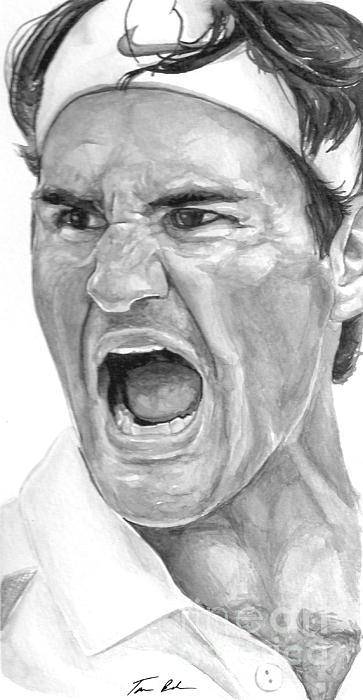 Intensity Federer Print by Tamir Barkan
