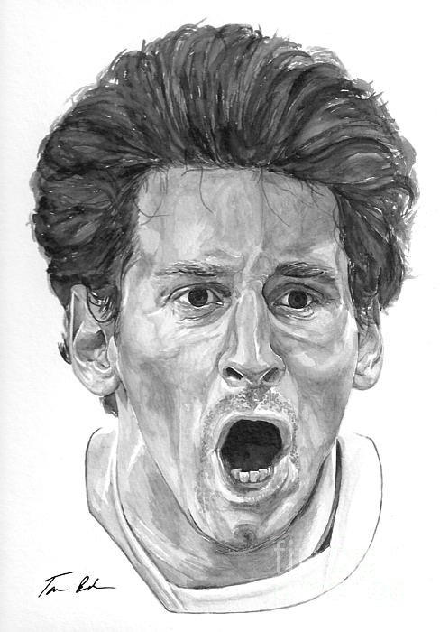 Intensity Lionel Messi Print by Tamir Barkan