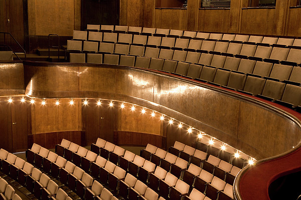 Adam Burn - Interior Of An Illuminated Art Deco Theater