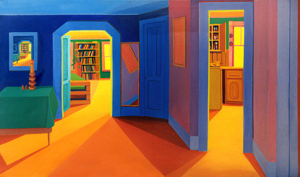 Interior Of Malden Apartment Print by Nancy Griswold