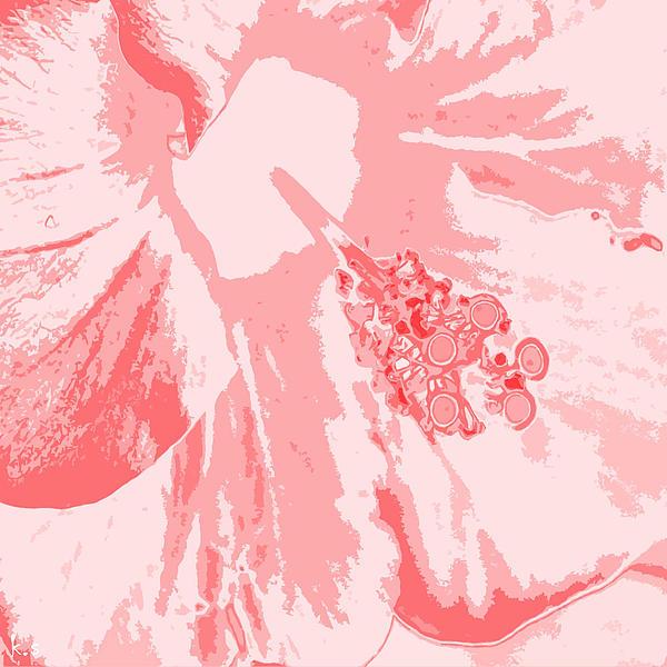 Intimate Pink  Print by Keren Shiker