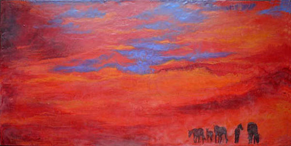 Into The Sunset Painting  - Into The Sunset Fine Art Print