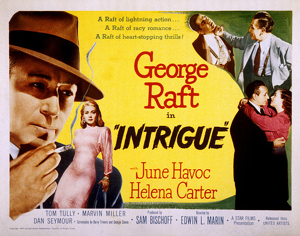 Intrigue, George Raft, June Havoc Print by Everett
