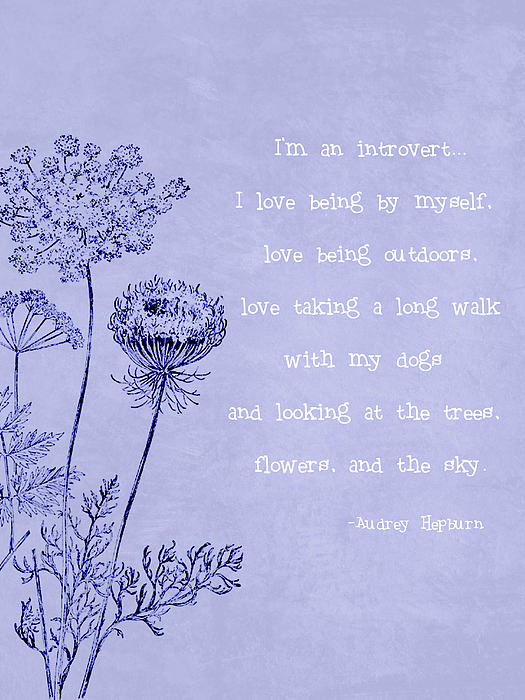 Introvert Print by Tia Helen