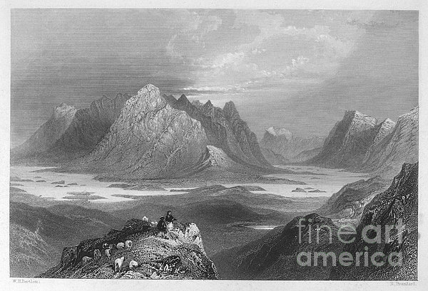 Ireland: Lough Inagh, C1840 Print by Granger