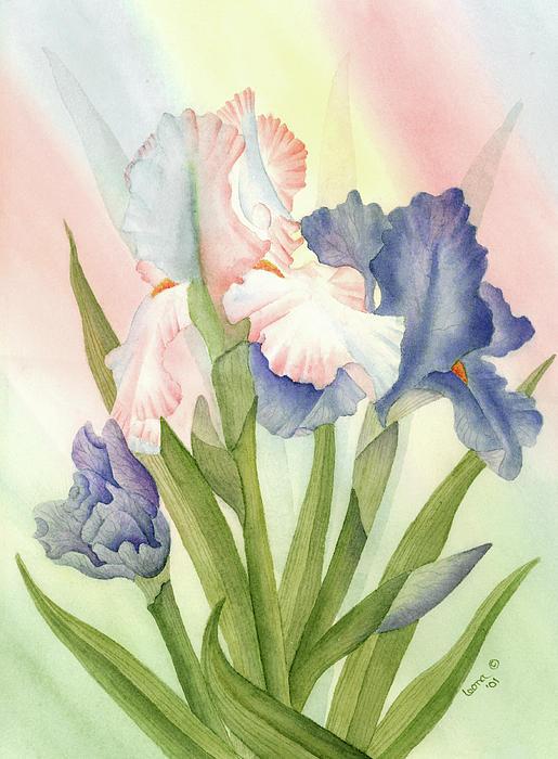 Irises Print by Leona Jones