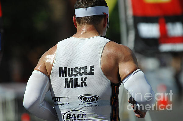 Ironman Muscle Milk Print by Bob Christopher