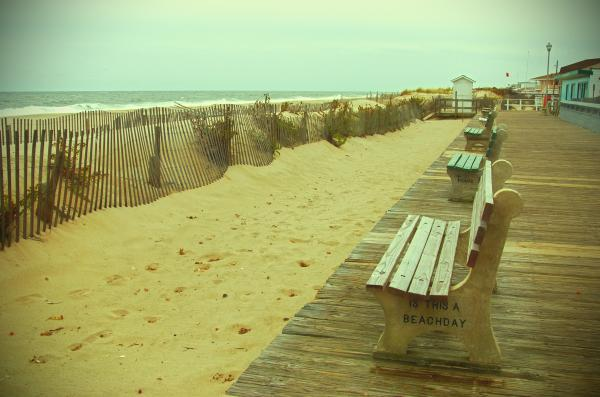 Is This A Beach Day - Jersey Shore Print by Angie Tirado