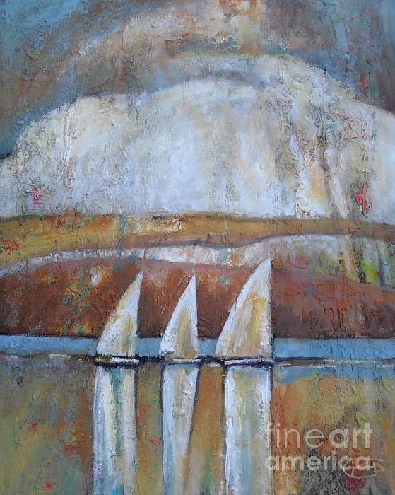 Island Rain Print by Kip Decker
