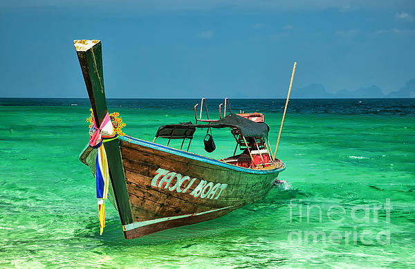 Island Taxi  Print by Adrian Evans