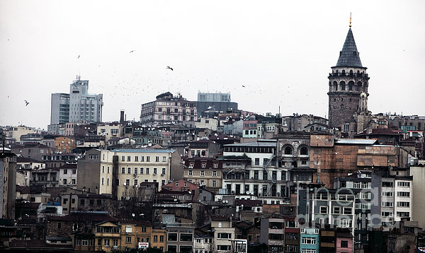 Istanbul Buildings Print by John Rizzuto