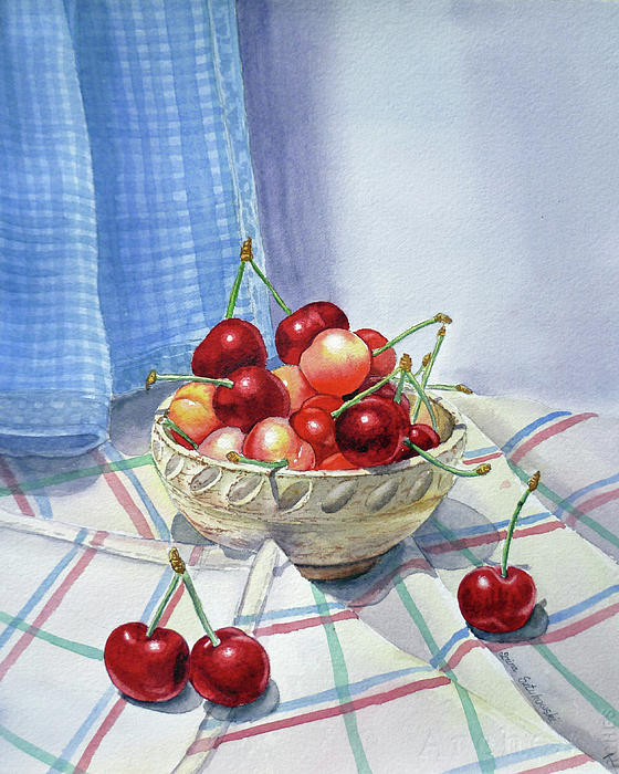 It Is Raining Cherries Print by Irina Sztukowski