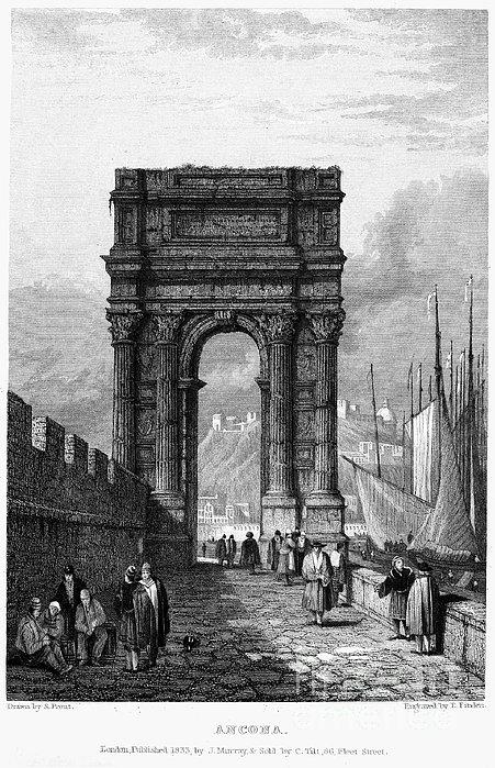 Italy: Ancona, 1833 Print by Granger