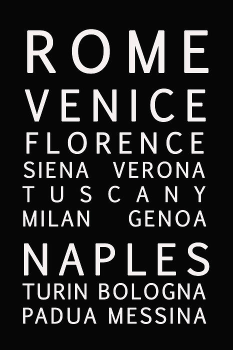 Italy Cities - Bus Roll Style Print by Nomad Art And  Design