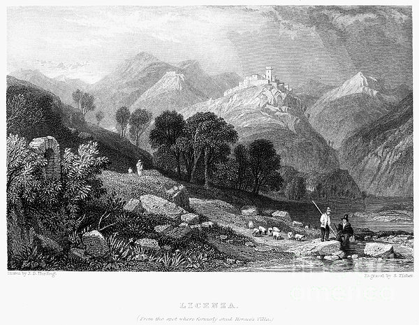 Italy: Licenza, 1833 Print by Granger
