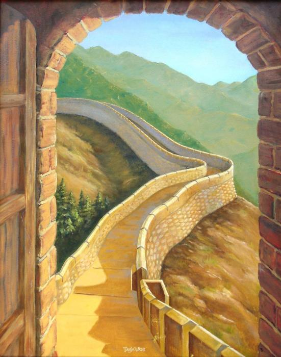 It's A Great Wall Print by Tanja Ware