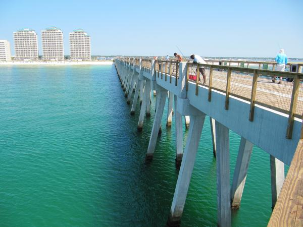 It 39 s all clear off navarre pier by pam utton for Navarre beach fishing pier