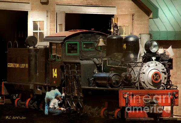 I've Been Working On The Railroad Print by RC DeWinter