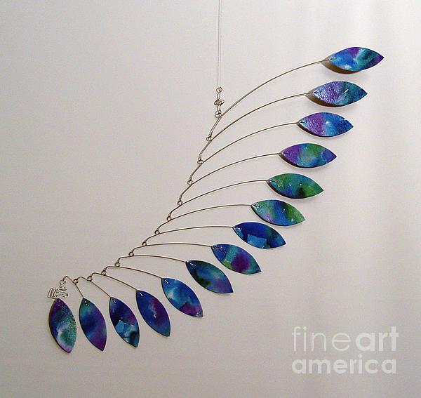 Jabberwocky Kinetic Mobile Sculpture Print by Carolyn Weir