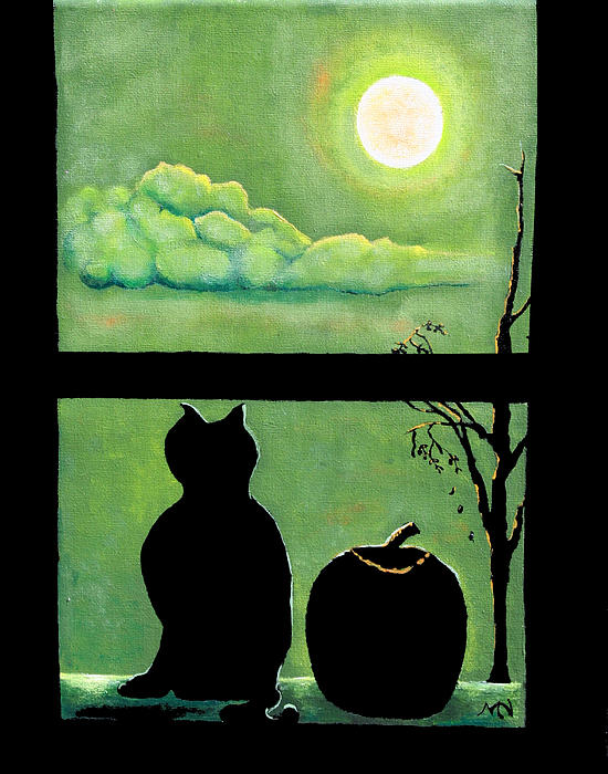 Jack And The Cat Painting