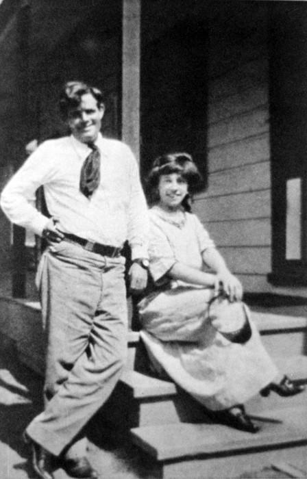 Jack London 1876-1916, American Author Print by Everett