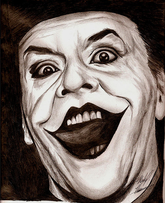 Jack The Joker Print by Michael Mestas